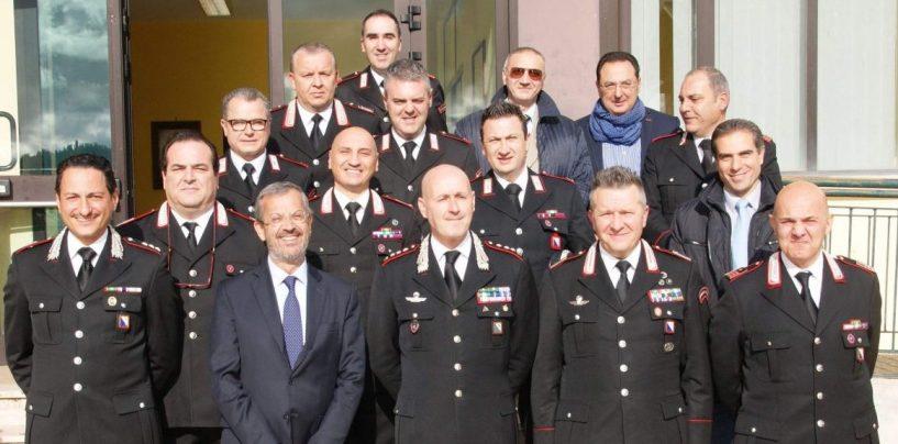 Il Procuratore di Benevento Policastro in visita al Comando dei Carabinieri di Mirabella