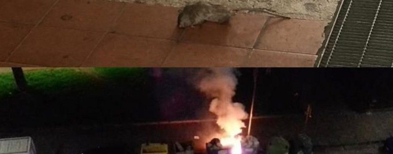 Topi e cassonetti bruciati, su degrado e inciviltà Avellino non si smentisce