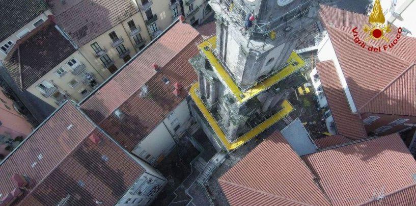 FOTO/ Torre dell'Orologio, apprezzamento per l'intervento dei vvf