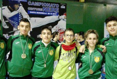 Taekwondo, i ragazzi di Iuliano strappano un oro e quattro bronzi agli Interregionali Lazio