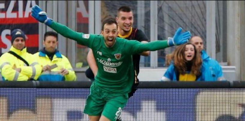 """Incredibile a Benevento: arriva il primo punto in serie A grazie al """"portiere"""""""