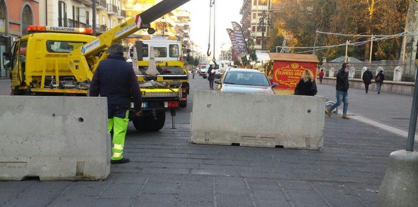 """Blocchi di sicurezza a Corso Vittorio Emanuele. La Municipale: """"E' un dovere scongiurare qualsiasi rischio"""""""