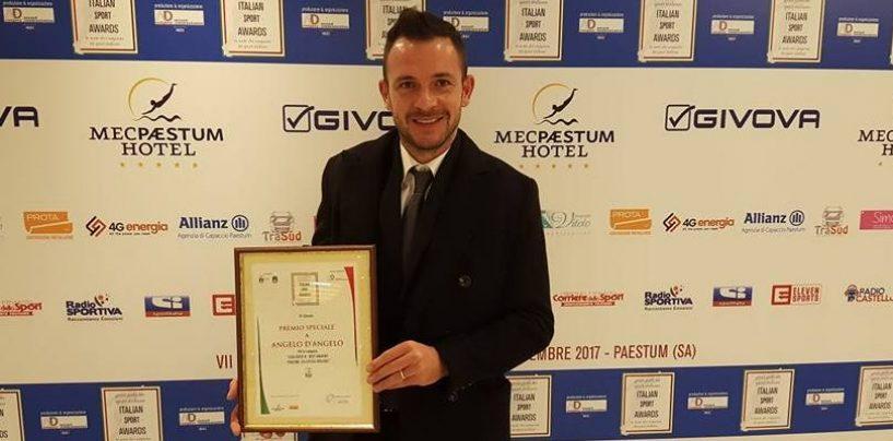 Avellino Calcio – D'Angelo premiato agli Italian Sport Awards
