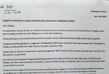 """Rifacimento rete idrica a Serino: al via la petizione popolare promossa dall'associazione """"Be"""""""