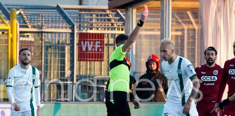 Avellino Calcio – Giudice sportivo, stangata per Suagher