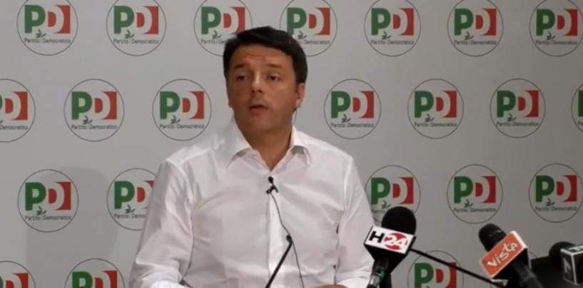 """Renzi si dimette: """"Riconsegniamo le chiavi, Pd non sarà mai partito-stampella"""""""