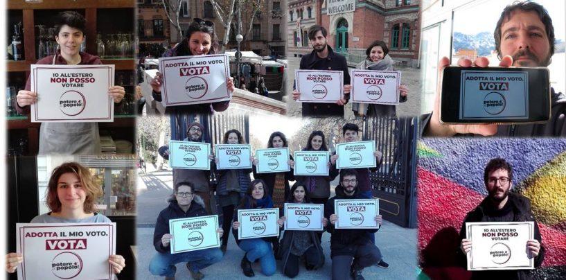 """Potere al Popolo Irpinia e Potere al Popolo Madrid lanciano la campagna """"Adotta il mio voto"""""""
