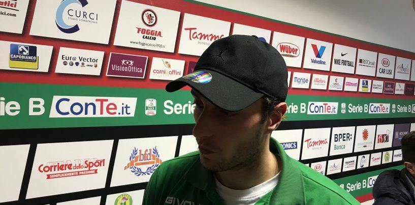 """Foggia-Avellino 2-1, Migliorini: """"Colpa nostra e dell'arbitro"""""""