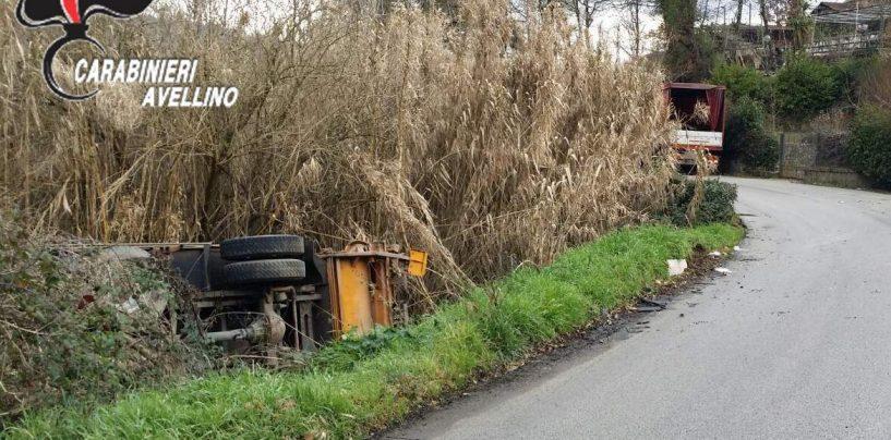 Tir contro autocompattatore: incidente senza feriti a Tufo