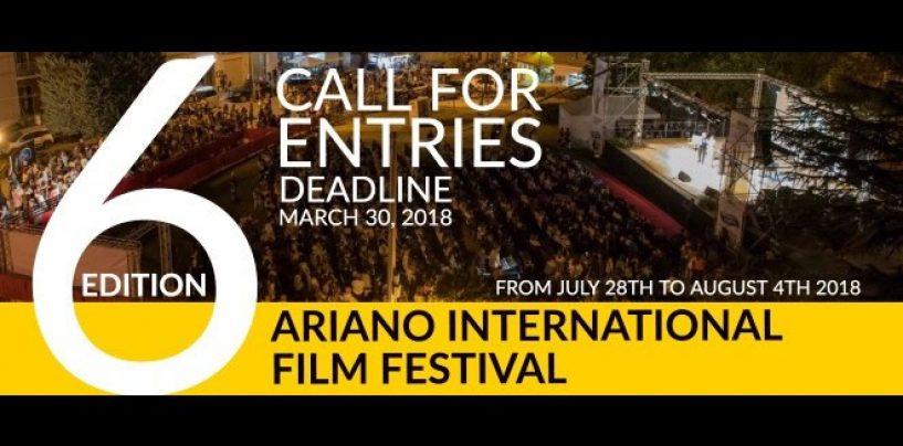 Ariano Film Festival, aperto il bando di concorso per la sesta edizione