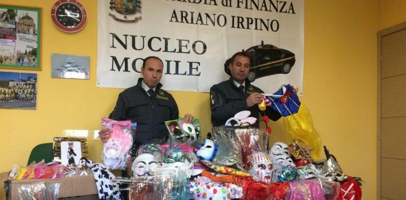 Rischio soffocamento: maxi sequestro di maschere e costumi di Carnevale