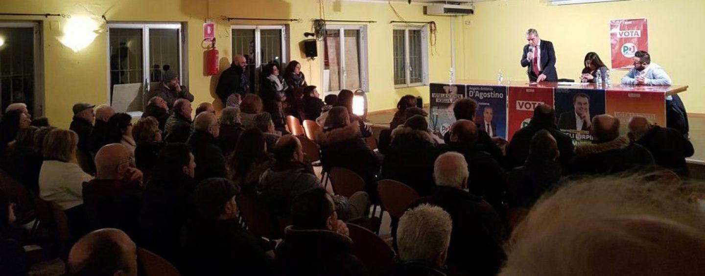 """D'Agostino a Montefalcione con Paris e Famiglietti: """"Vedo voglia di partecipazione"""""""