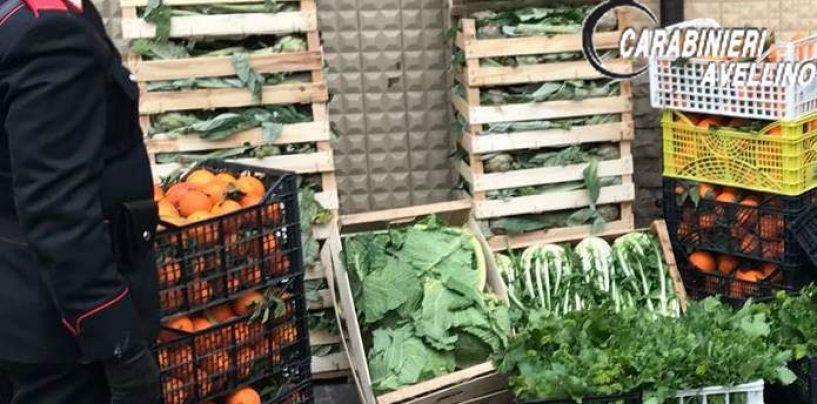 Sequestrati 350 chili di frutta e verdura, venditore multato e merce consegnata agli indigenti