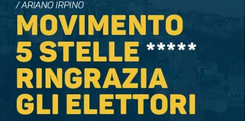 Ariano, il Movimento 5 Stelle ringrazia gli elettori
