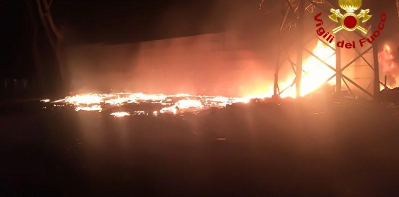 Incendio doloso nelle vicinanze di un'azienda: indagano i carabinieri