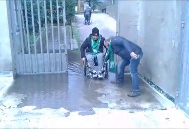 VIDEO/ Allagato l'ingresso della Curva nord, per i disabili entrare allo stadio è un'impresa