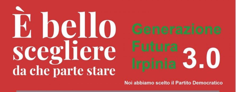 """Pd: """"E' giusto crederci ancora"""", l'iniziativa di Generazione Futura Irpinia 3.0"""
