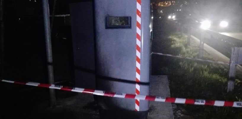 Autovelox in fiamme sul raccordo Salerno-Avellino: raid vandalico