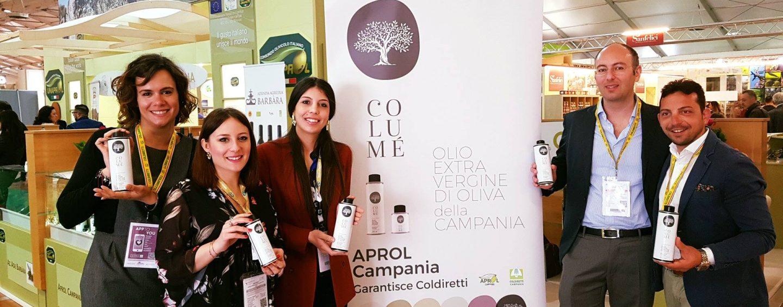 Al Vinitaly esordisce Columè: primo blend olio evo 100% campano