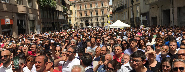 Avellino, apoteosi Movimento 5 Stelle