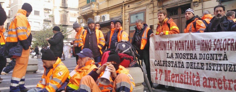 Diciassette mensilità arretrate: monta la protesta della Comunità Montana Irno-Solofrana
