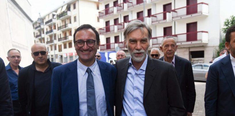 """Delrio abbraccia Pizza: """"Qui si è puntato sulle persone migliori, le città non si governano da Roma"""""""
