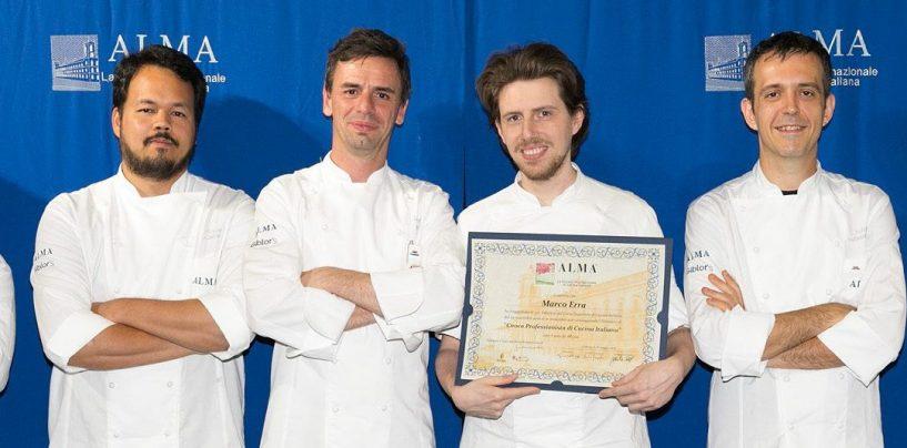 L'irpino Marco Erra si diploma cuoco professionista nella scuola di Marchesi