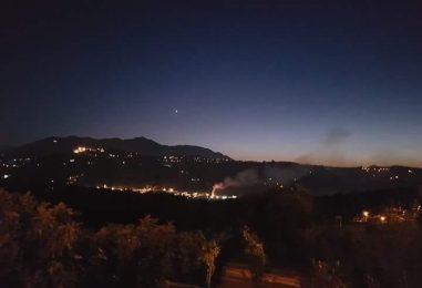 Pianodardine, fiamme nei pressi di un impianto di trattamento rifiuti