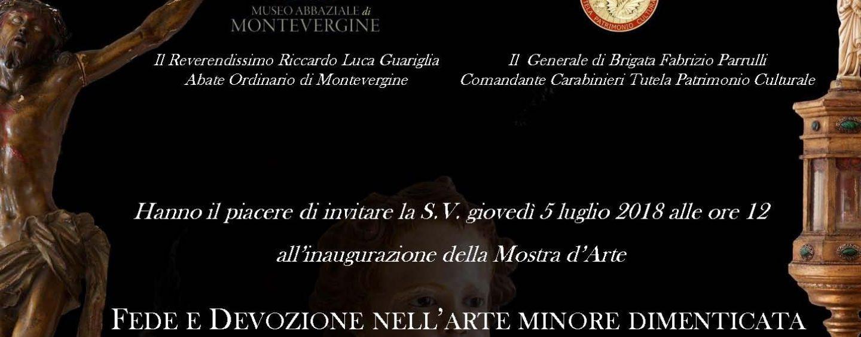 In mostra nel museo di Montevergine le 130 opere recuperate dai Carabinieri