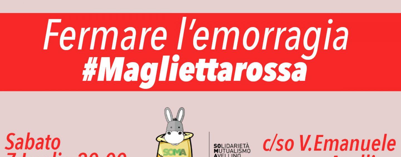 Una maglietta rossa in favore della solidarietà: il flashmob anche ad Avellino