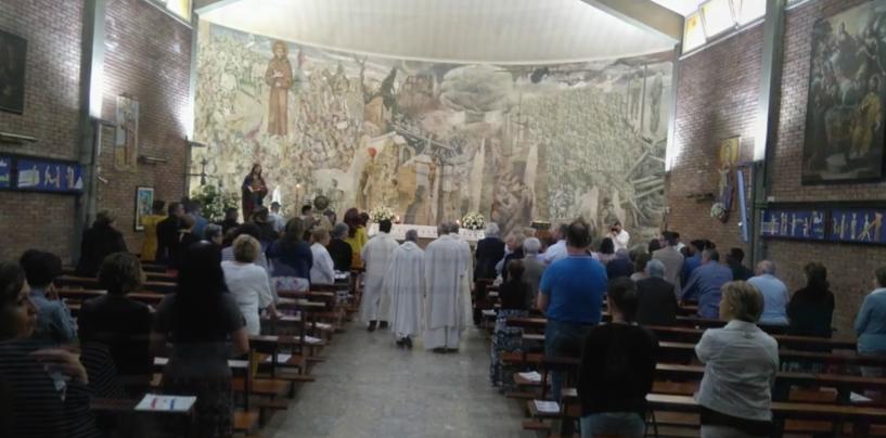 Fede e arte, riflessione sul murale della pace tra il Vescovo Aiello e de Conciliis