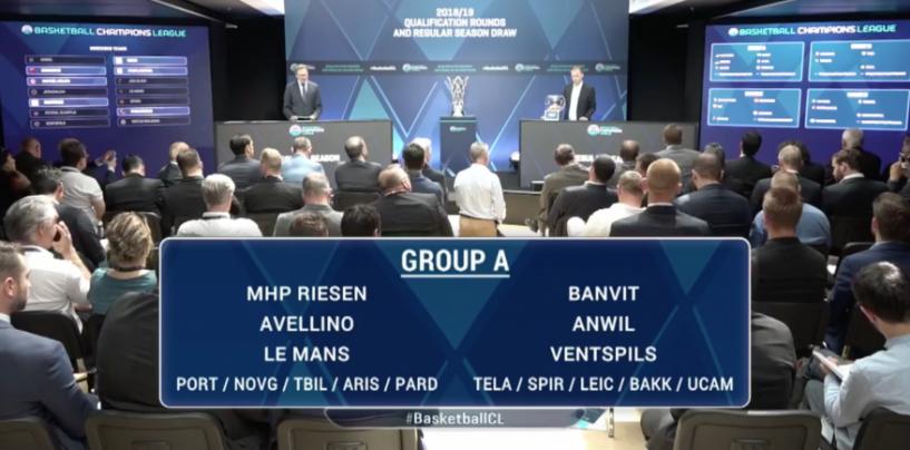 Champions, Sidigas Avellino nel gruppo A. Pericolo Le Mans e Banvit
