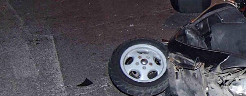 Scontro tra auto e scooter: è grave un 20enne di Avella