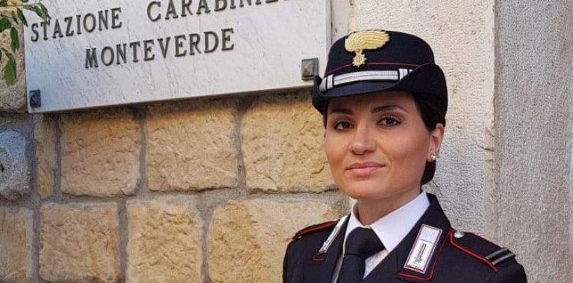 A Monteverde il primo maresciallo donna dei Carabinieri