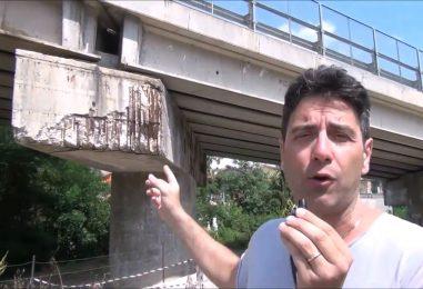 VIDEO/ Ponte pericolante ad Ariano: alto rischio per automobilisti e abitazioni circostanti