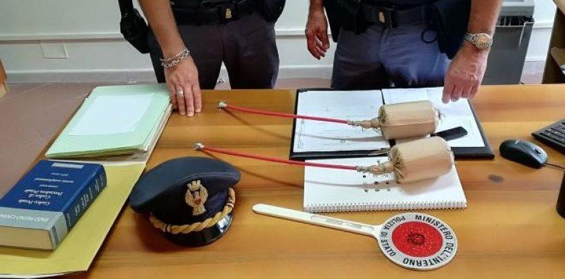 Ritrovate due bombe carta molto pericolose: sequestrate dalla Polizia