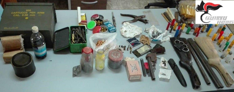 Pistola artigianale e munizioni di vario calibro: arrestato 58enne
