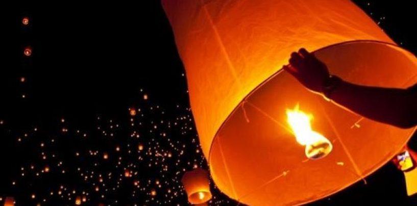 Prata e la notte magica delle 'Lanterne fluttuanti'