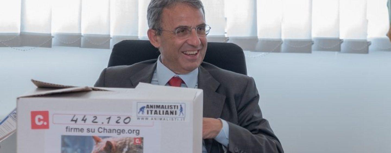 443 mila firme per salvare i lupi: la petizione consegnata al Ministro Costa
