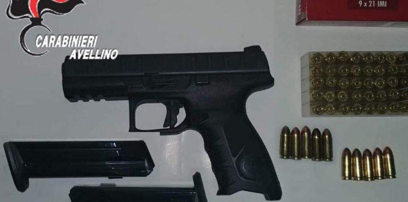 Detiene illegalmente due pistole e una settantina di proiettili: nei guai 60enne di Monteforte