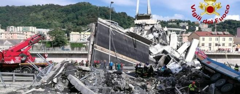 Genova, partita la demolizione del Ponte Morandi