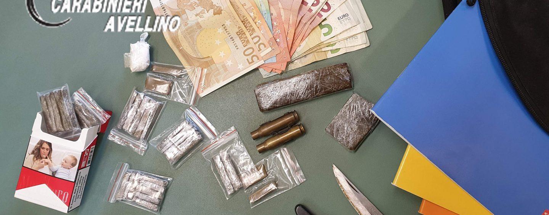 A scuola con hashish, cocaina e un coltello: arrestato 19enne