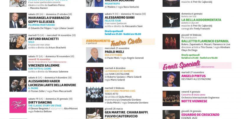 """Teatro """"Carlo Gesualdo"""": parte oggi la vendita dei biglietti per la stagione teatrale 2018-2019"""