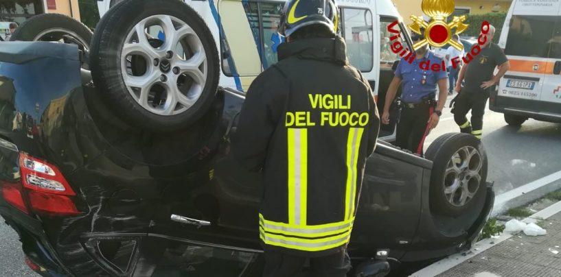 Incidente sulla Statale 90, si ribalta un'auto: tre feriti