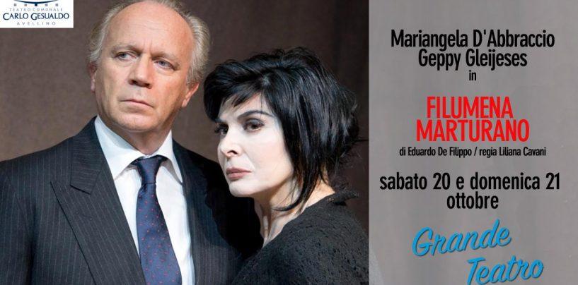 Teatro Gesualdo, Mariangela d'Abbraccio e Geppy Gleijeses protagonisti di 'Filumena Marturano'