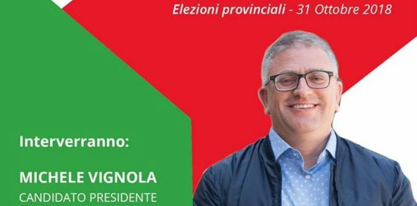Provinciali, sabato la presentazione di Vignola e dei candidati della lista Pd
