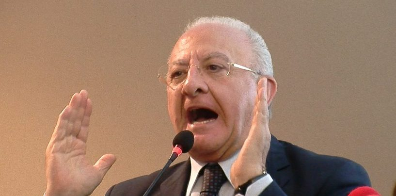 """De Luca: """"Il decreto sicurezza è un disastro, ma niente ricorso: bisogna trattare con il Governo"""""""
