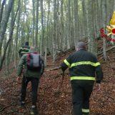 VIDEO/ Perso tra i boschi del Partenio, si salva grazie ad una segnalazione ai caschi rossi