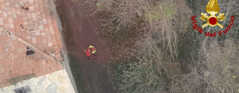 Alla ricerca di funghi si perde a Montevergine, ritrovato da un elicottero dei Vigili del Fuoco