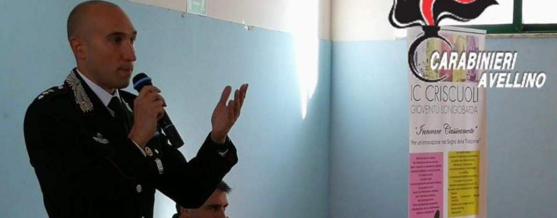 """Cultura della legalità, i Carabinieri incontrano gli alunni del """"Criscuoli"""""""